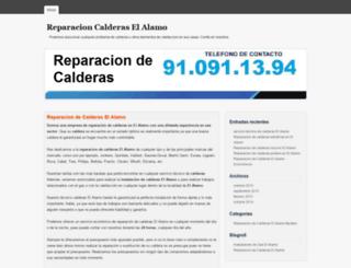 reparaciondecalderaselalamo.com.es screenshot