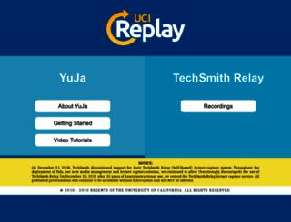replay.uci.edu screenshot