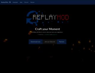 replaymod.com screenshot