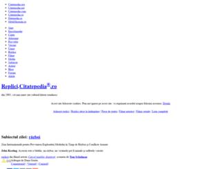 replici.citatepedia.ro screenshot