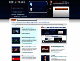 reply2frank.com screenshot