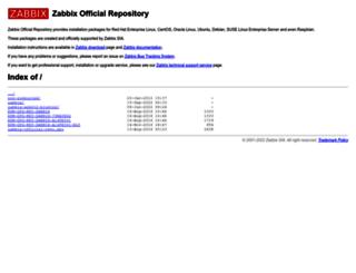 repo.zabbix.com screenshot
