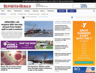 reporter-herald.com screenshot