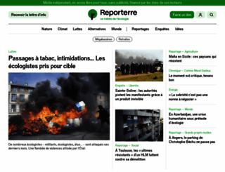 reporterre.net screenshot