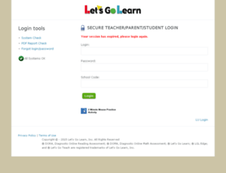 reporting.letsgolearn.com screenshot