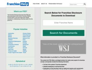 reports.franchisehelp.com screenshot