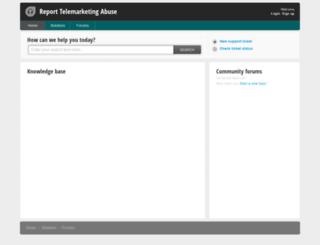 reporttelemarketingabuse.freshdesk.com screenshot