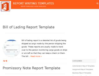 reportwritingtemplates.com screenshot