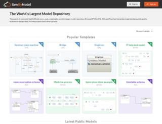 repository.genmymodel.com screenshot