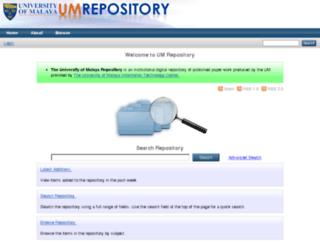 repository.um.edu.my screenshot