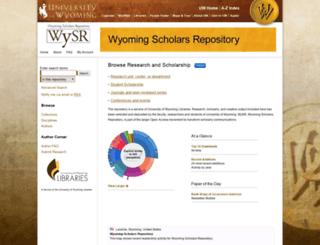 repository.uwyo.edu screenshot