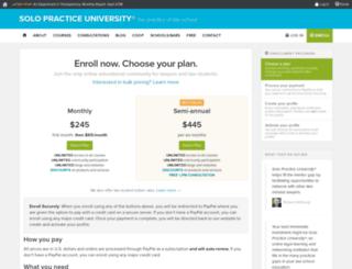 reproductivelaw.solopracticeuniversity.com screenshot