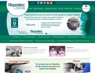 reprotecfertilitycenter.com screenshot