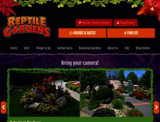 reptilegardens.com screenshot