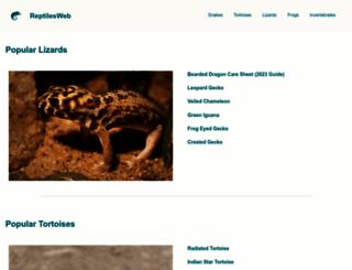 reptilesweb.com screenshot