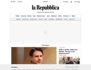 repubblica.it screenshot