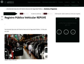 repuve.gob.mx screenshot