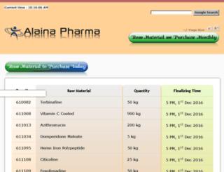 requirement.alaina.co.in screenshot