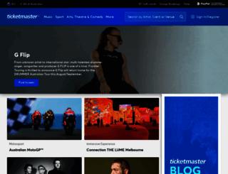 resale.ticketmaster.com.au screenshot