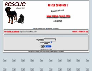 rescue.forumactif.com screenshot