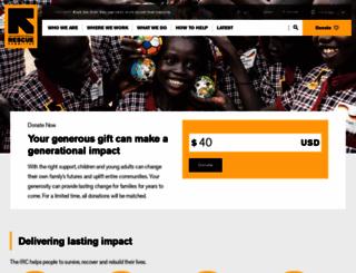 rescue.org screenshot