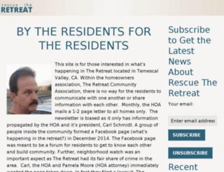 rescuetheretreat.com screenshot