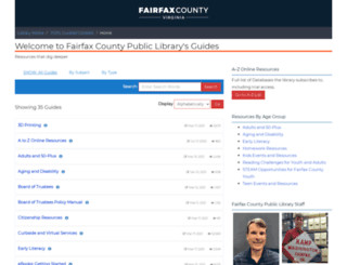 research.fairfaxcounty.gov screenshot