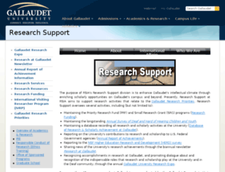 research.gallaudet.edu screenshot