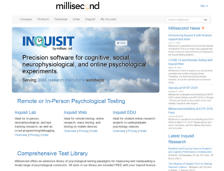 research.millisecond.com screenshot