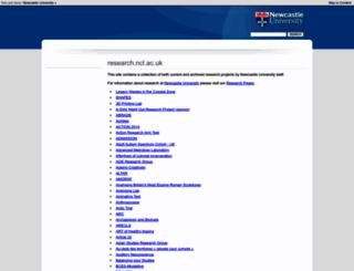 research.ncl.ac.uk screenshot