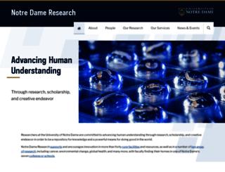 research.nd.edu screenshot