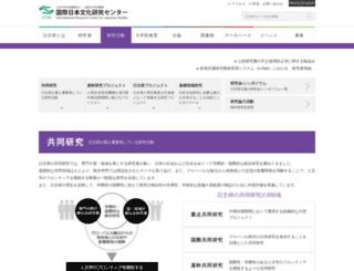 research.nichibun.ac.jp screenshot