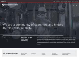 research.osu.edu screenshot