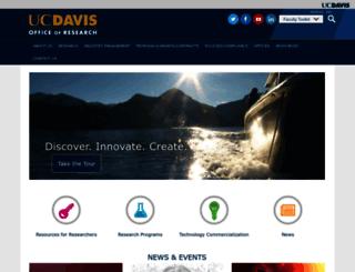 research.ucdavis.edu screenshot
