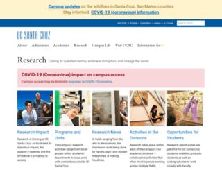 research.ucsc.edu screenshot
