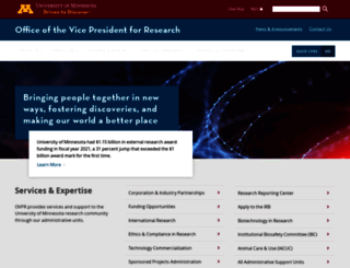 research.umn.edu screenshot