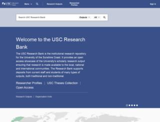 research.usc.edu.au screenshot