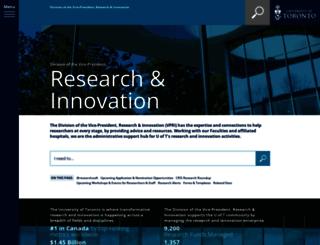 research.utoronto.ca screenshot
