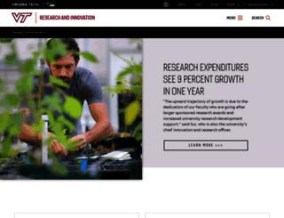 research.vt.edu screenshot
