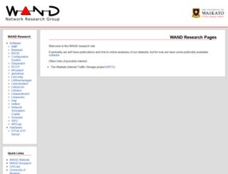 research.wand.net.nz screenshot