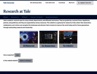 research.yale.edu screenshot