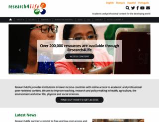 research4life.org screenshot