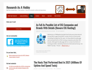 researchasahobby.com screenshot