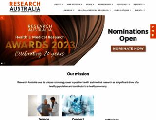 researchaustralia.org screenshot