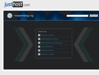 researchblog.org screenshot