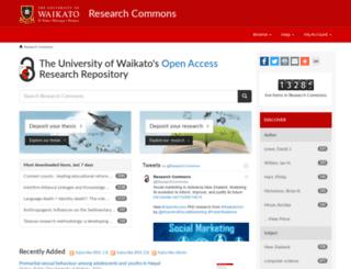 researchcommons.waikato.ac.nz screenshot
