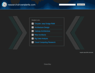 researchdrivenalerts.com screenshot