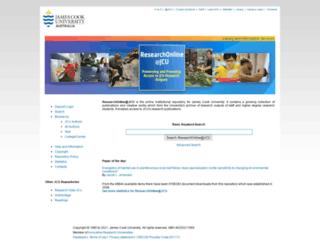 researchonline.jcu.edu.au screenshot