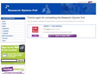 researchopinionpoll.voucherselector.co.uk screenshot