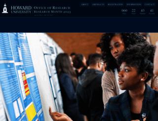 researchweek.howard.edu screenshot
